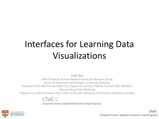 Interfaces for Learning Data  Visualizations