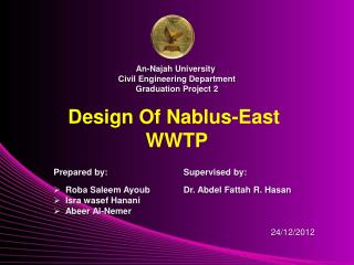 Design Of Nablus-East WWTP