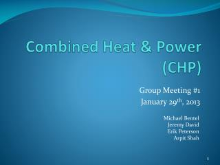 Combined Heat & Power (CHP)