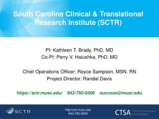 South Carolina Clinical & Translational Research Institute (SCTR)