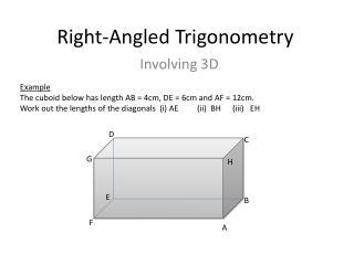 Right-Angled Trigonometry