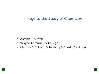 Keys to the Study of Chemistry
