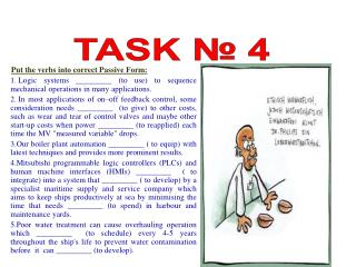 TASK № 4