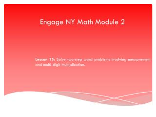 Engage NY Math Module 2
