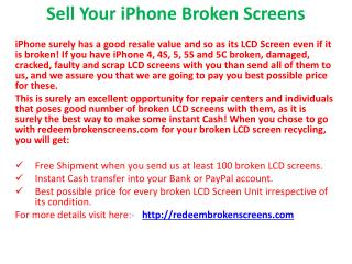 Sell Your iPhone Broken Screens