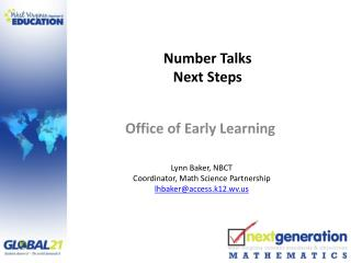 Number Talks Next Steps