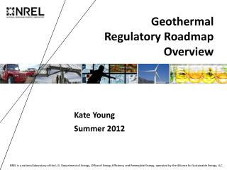 Geothermal  Regulatory Roadmap Overview
