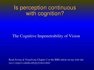 Is perception continuous  with cognition?