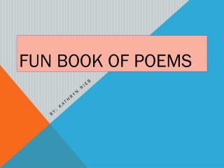 Fun book of Poems