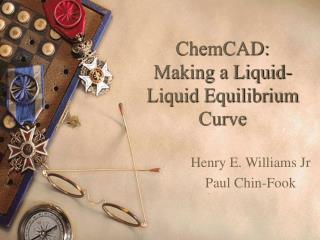 ChemCAD: Making a Liquid-Liquid Equilibrium Curve