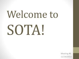 Welcome to  SOTA!