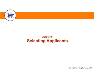 Selecting Applicants