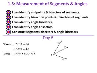1.5:  Measurement of Segments & Angles