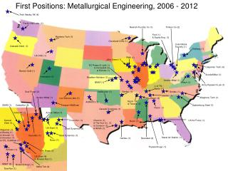 First Positions: Metallurgical  Engineering, 2006  -  2012