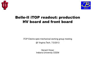 Belle-II  iTOP  readout: production     HV board and front board