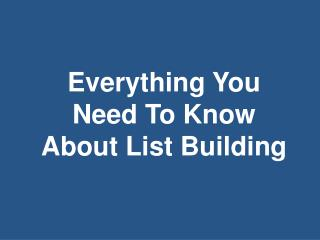 This guide will surely give you that list building boost!