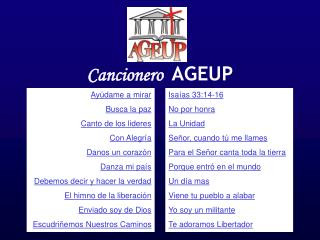 Cancionero AGEUP
