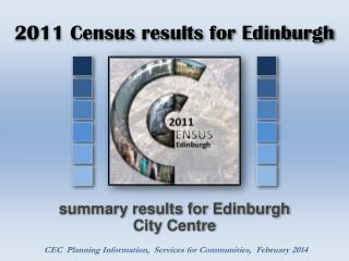2011 Census results for Edinburgh