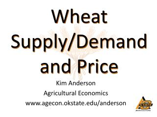 Wheat Supply/Demand a nd Price