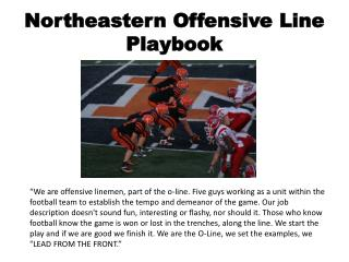 Northeastern Offensive Line Playbook