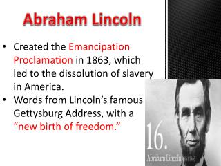 abraham lincoln the emancipation proclamation
