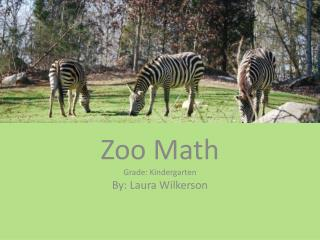 Zoo  Math Grade: Kindergarten By: Laura Wilkerson