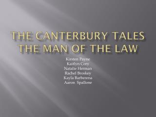 The Canterbury Tales The Man of the Law