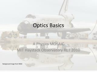 Optics Basics