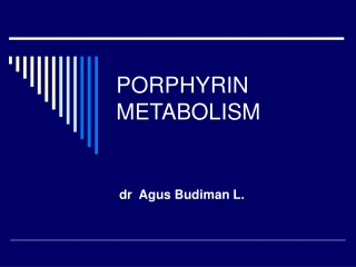 Heme Metabolism