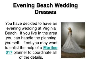 Evening Beach Wedding Dresses