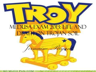 Medusa Exam 2013: Life and Death on Trojan Soil