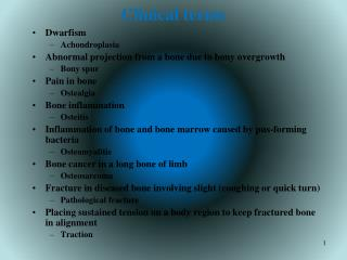Clinical terms