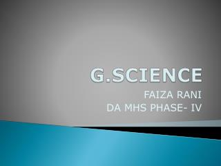 G.SCIENCE