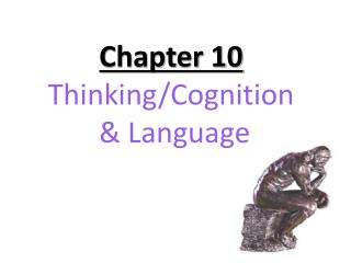 Chapter 10 Thinking/Cognition  & Language