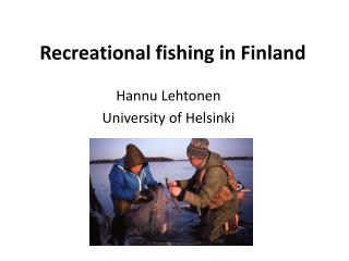 Recreational fishing  in Finland