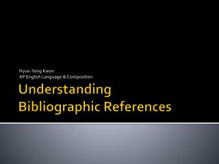 Understanding Bibliographic References