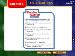 Physical Fitness for Life
