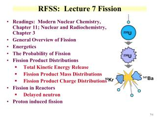 RFSS:  Lecture 7  Fission