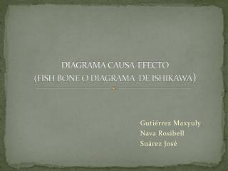 DIAGRAMA CAUSA-EFECTO (FISH BONE O DIAGRAMA  DE ISHIKAWA )