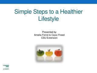 Simple Steps to a Healthier Lifestyle