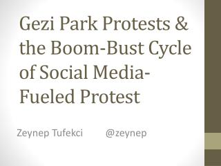 Gezi  Park Protests & the Boom-Bust Cycle of Social Media-Fueled Protest