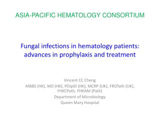 Fungal infections in hematology patients: advances in prophylaxis and treatment