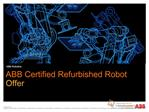 ABB Certified Refurbished Robot presentation