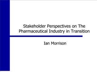 Stakeholder Perspectives on The Pharmaceutical Industry in ...