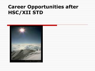 Career Opportunities after HSCXII STD