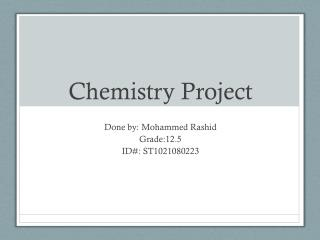 PPT - CHEMISTRY AND THE HUMAN BODY PowerPoint Presentation - ID:510069