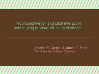 Proprioceptive roll and pitch interact in  contributing to visual tilt-induced effects.