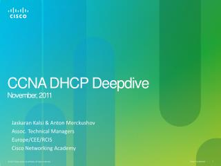CCNA DHCP Deepdive N ovember,  2011