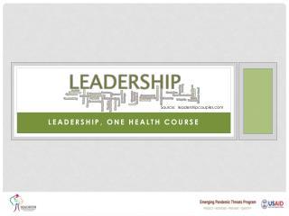 Leadership, One Health Course