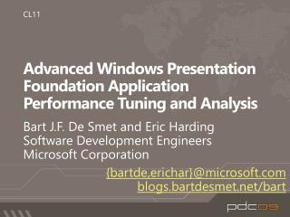 Advanced Windows Presentation Foundation Application Performance Tuning and Analysis
